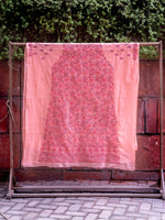 Load image into Gallery viewer, Doha Peach- Pop Unstitched Chikankari Suit Material