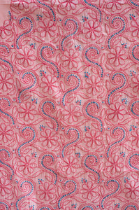 Doha Peach- Pop Unstitched Chikankari Suit Material