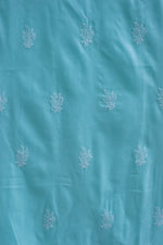 Load image into Gallery viewer, Jumaana Keri Buta Blue Unstitched Suit Material