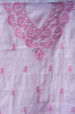 Load image into Gallery viewer, Rangat Pastel Pink Unstitched Chikankari Suit Material