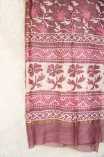 Load image into Gallery viewer, GulBano Pink Dabu Block-Printed Chanderi Dupatta