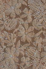 Load image into Gallery viewer, Georgette Orange Unstitched Chikankari Suit Material