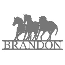 Load image into Gallery viewer, Personalized Equestrian Horse Themed Metal Wall Sign