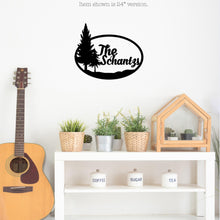 Load image into Gallery viewer, Personalized Pine Tree Themed Metal Wall Sign