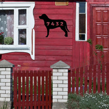 Load image into Gallery viewer, Dog with House Number Sign