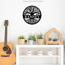 Load image into Gallery viewer, Personalized Tree of Life Themed Metal Wall Sign Wall