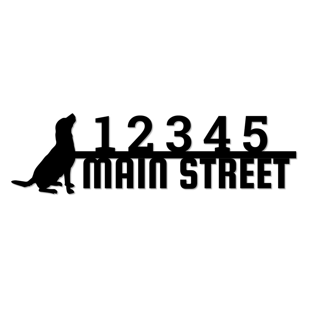 Canine Dog Themed House Address Sign