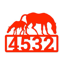 Load image into Gallery viewer, Personalized Equestrian Themed House Number Sign