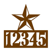 Load image into Gallery viewer, Lone Star House Number Metal Sign