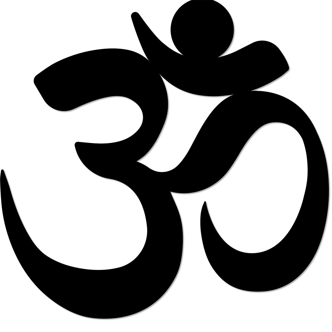Yoga Namaste Symbol Metal Art Wall Sign