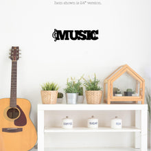 "Load image into Gallery viewer, ""Music"" with Notes Wall Sign"