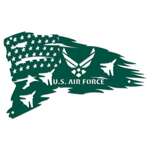 Load image into Gallery viewer, Distressed American Flag with Fighter Jets Wall Sign