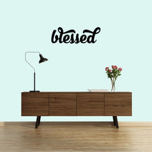 "Load image into Gallery viewer, ""Blessed"" Metal Word Art Sign"