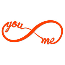 Load image into Gallery viewer, You and Me Forever Infinity Metal Art Sign