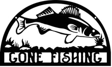 "Load image into Gallery viewer, Iconic ""Gone Fishing"" Sign"