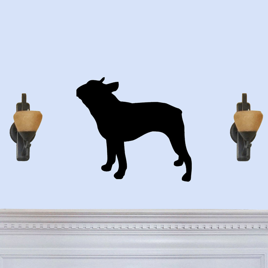 Boston Terrier Dog Silhouette Sign