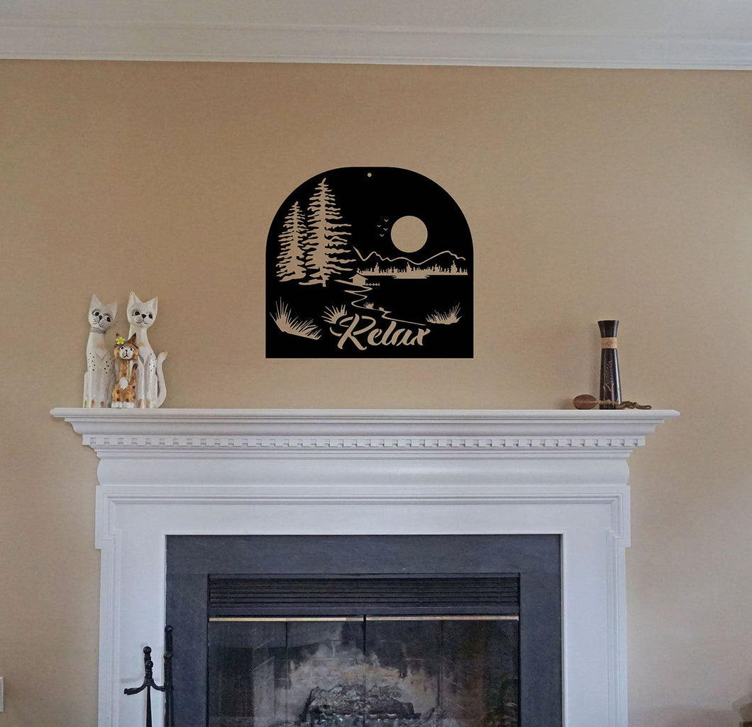 Relax - Scenic Landscape Sign