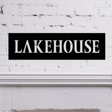 "Load image into Gallery viewer, Simple ""Lakehouse"" Sign"