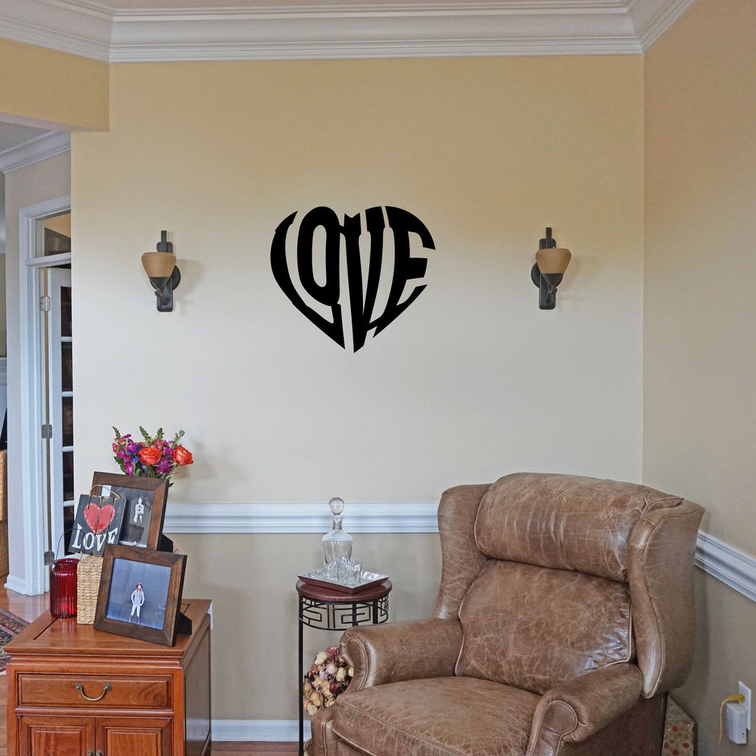 Heart Shape Word Art Sign