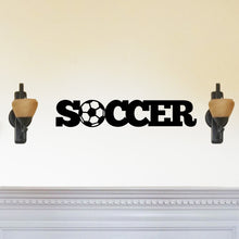 "Load image into Gallery viewer, Soccer Themed ""Soccer"" Sign"