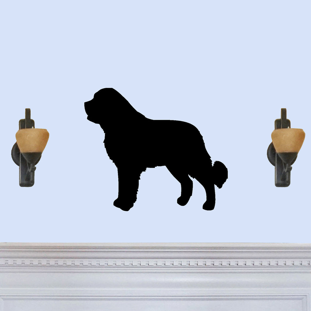 Saint Bernard Dog Silhouette Sign