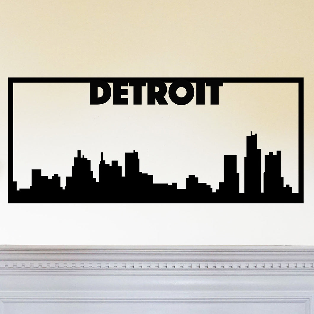 Detroit City Skyline Sign