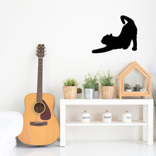 Load image into Gallery viewer, Cat Stretching Silhouette Sign