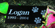 Load image into Gallery viewer, Paw Print Themed Pet Marker Headstone