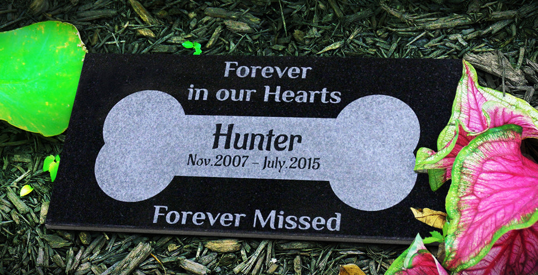 Customized Dog Bone Pet Marker Headstone