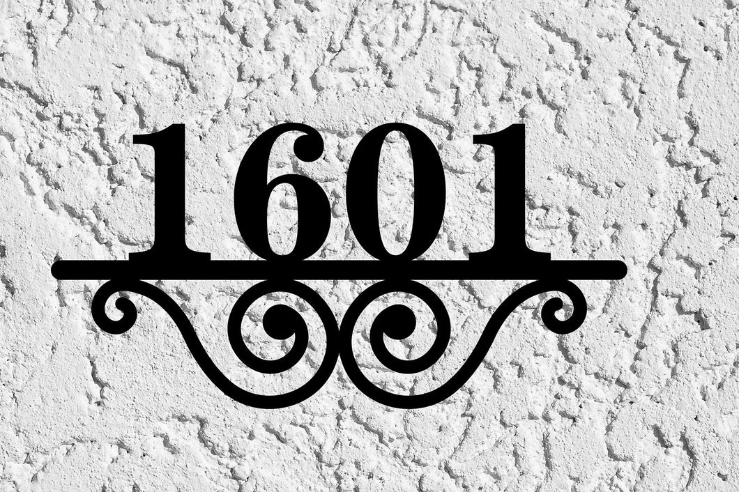 Beautiful House Number Address Plaque