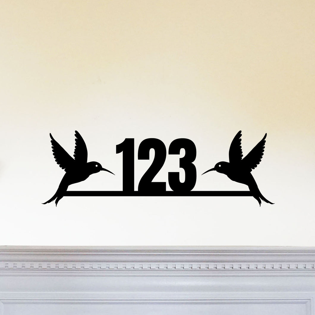 Hummingbird House Number Sign