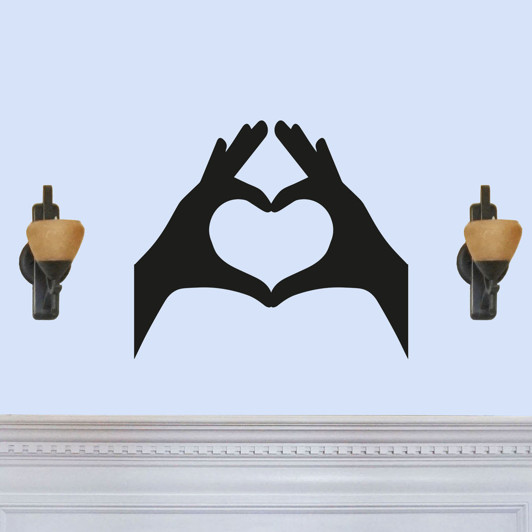 Fingers Forming Heart Sign