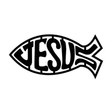 "Load image into Gallery viewer, Darwin Fish with ""Jesus"" Sign"