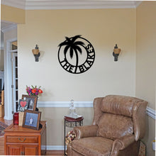 Load image into Gallery viewer, Personalized Palm Tree Themed Sign