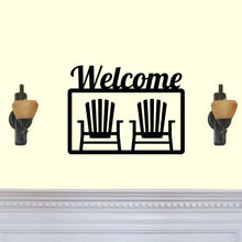 Load image into Gallery viewer, Welcome with Beach Chairs Sign