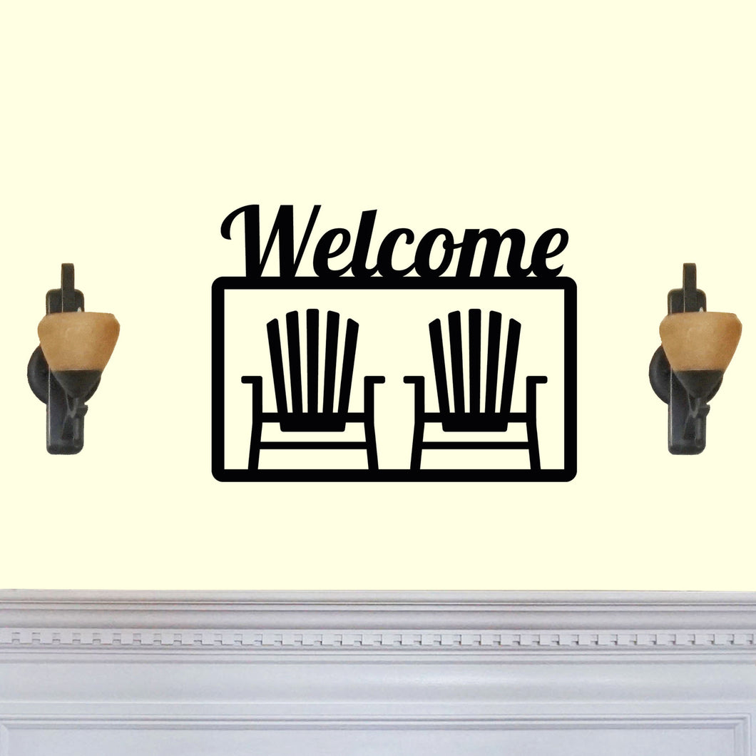 Welcome with Beach Chairs Sign