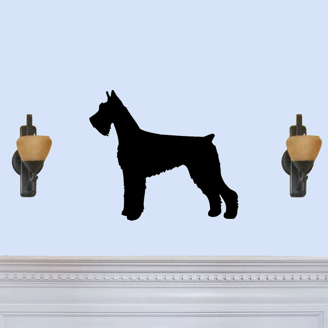 Giant Schnauzer Dog Silhouette Sign
