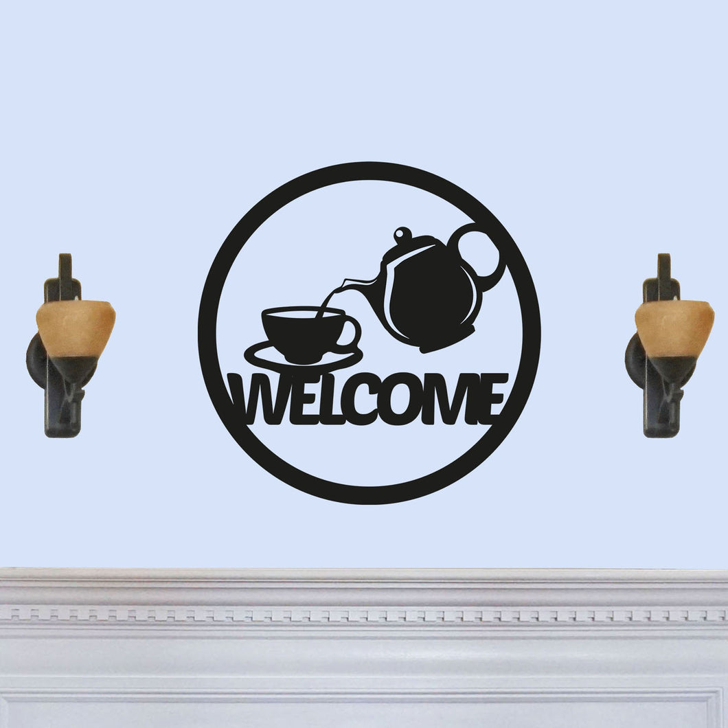 Welcome Sing with Coffee Tea Pot