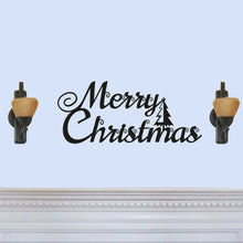 "Load image into Gallery viewer, Beautiful ""Merry Christmas"" with Tree Sign"