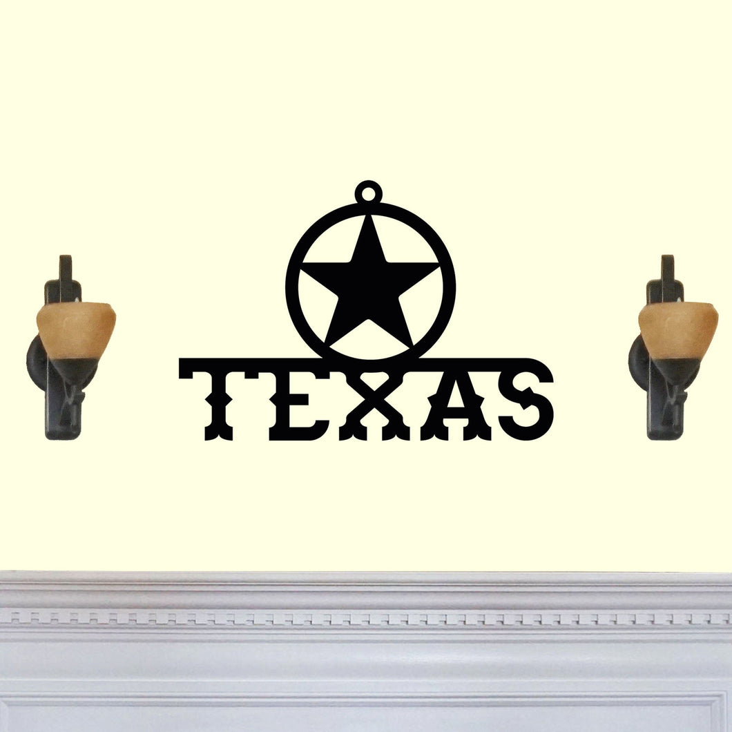 Western Themed Texas with Star Sign