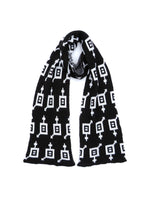Load image into Gallery viewer, Dot knits Gender Equality scarf black