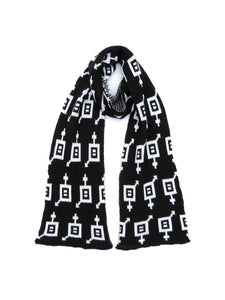 Dot knits Gender Equality scarf black