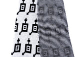 Load image into Gallery viewer, Dot knits Gender Equality scarf white close-up