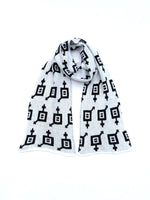 Load image into Gallery viewer, Dot knits Gender Equality scarf white