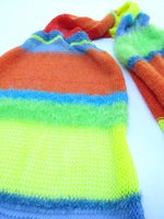 Load image into Gallery viewer, Dot knits lollipop stripe knit scarf
