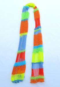 Dot knits scarves lollipop stripe knit scarf