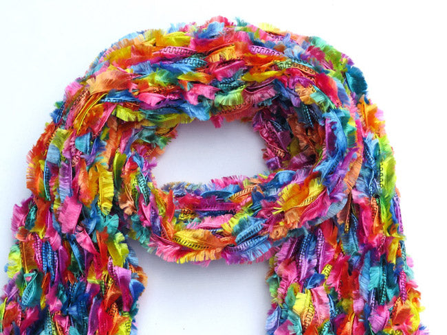Dot knits rainbow dream scarf
