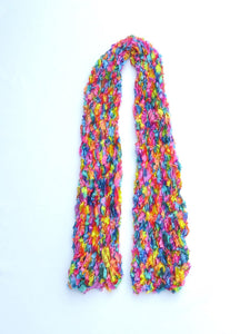 Dot knits scarves rainbow dream scarf