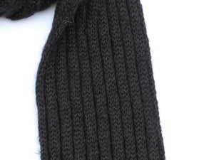 Dot knits ribbed mohair scarf black close-up