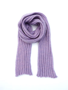 Dot knits ribbed mohair scarf lilac